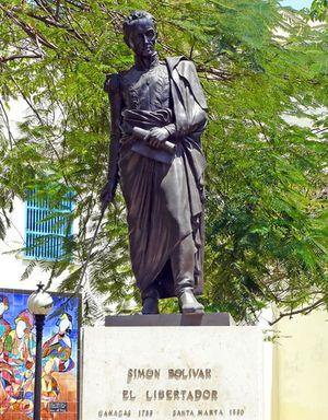 Statue Simón Bolívar, Vieille Havane