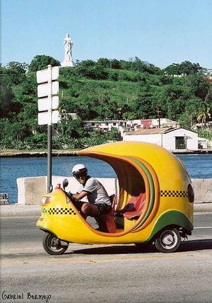 Cocotaxis à Cuba