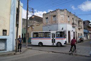 Local Guaguas or urban buses in Cuba