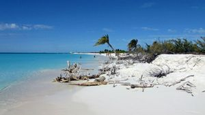 Beach with white sands, Cayo Largo